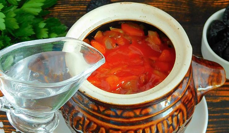 М'ясо з чорносливом в горщику. Відмінна страва на повсякденний та святковий стіл